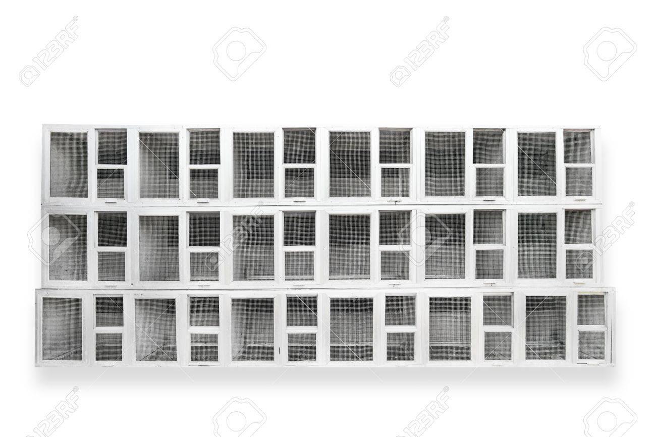 Stack of birdcage isolated on white Stock Photo - 10535693
