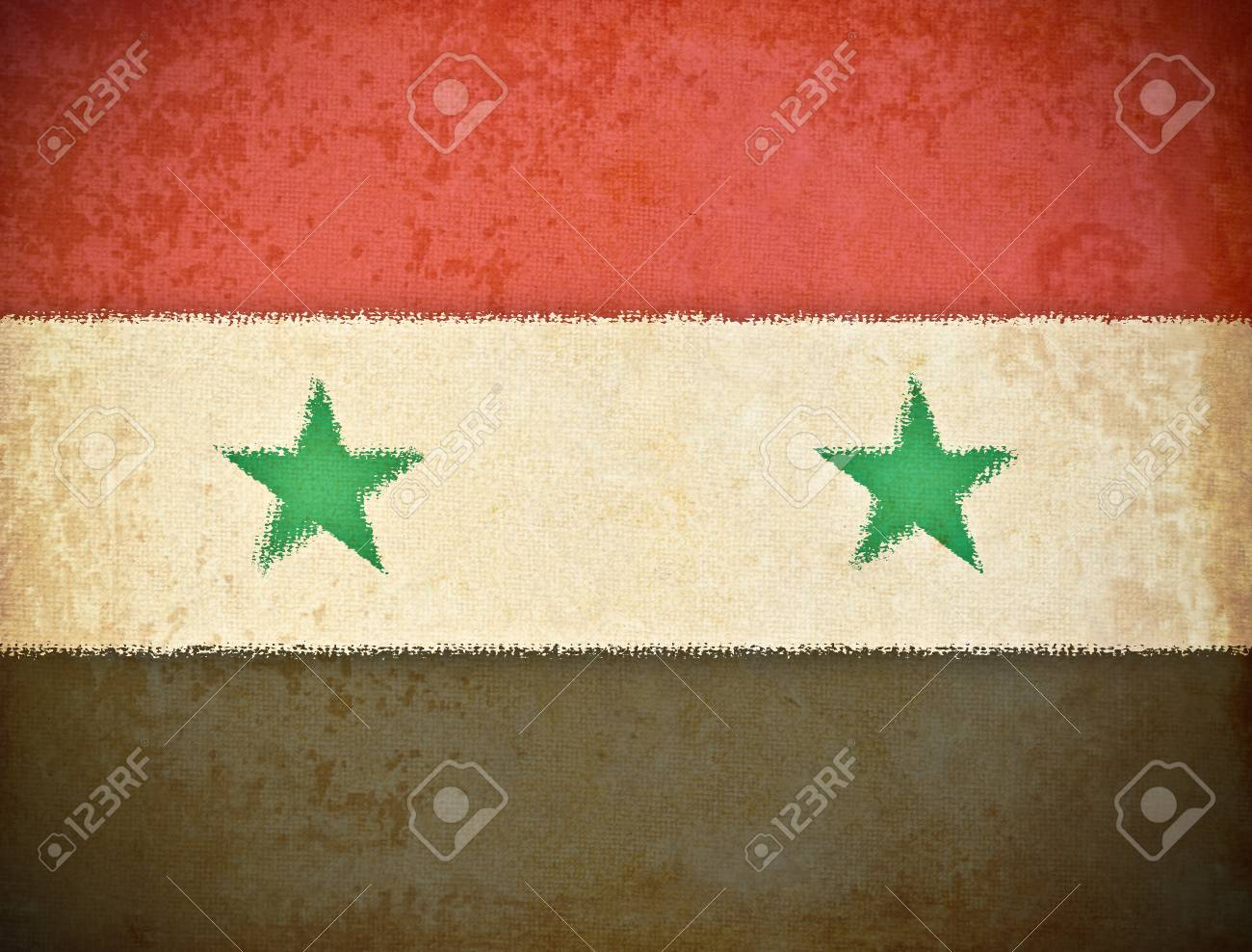 old grunge paper with Syria flag background Stock Photo - 12542820