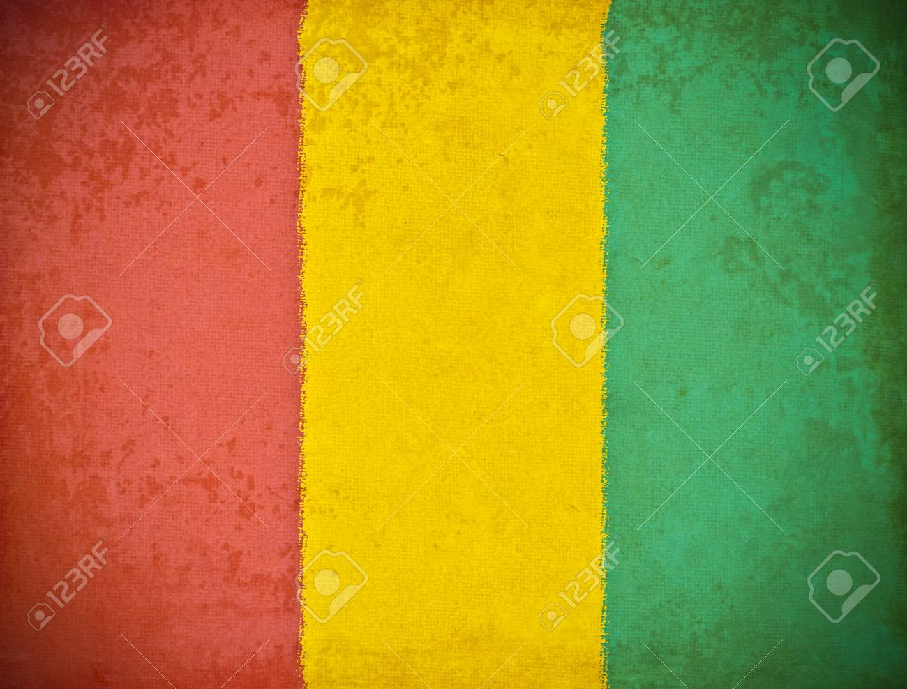 old grunge paper with Guinea flag background Stock Photo - 12545125