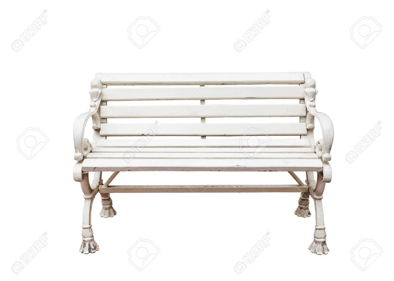 alloy garden chair, white color on white background