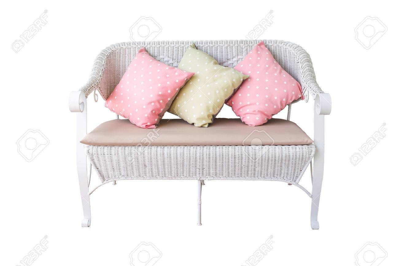 Strange Sofa Furniture Weave Bamboo Chair And Pillow On White Background Gmtry Best Dining Table And Chair Ideas Images Gmtryco