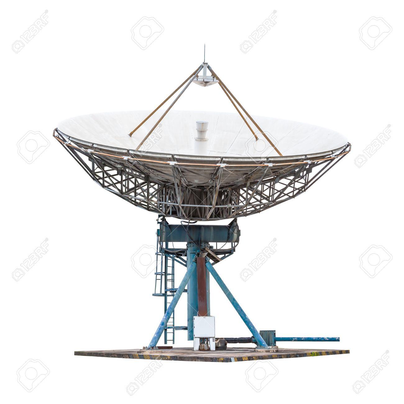 antenne parabolique antenne radar de grande taille isolé sur fond