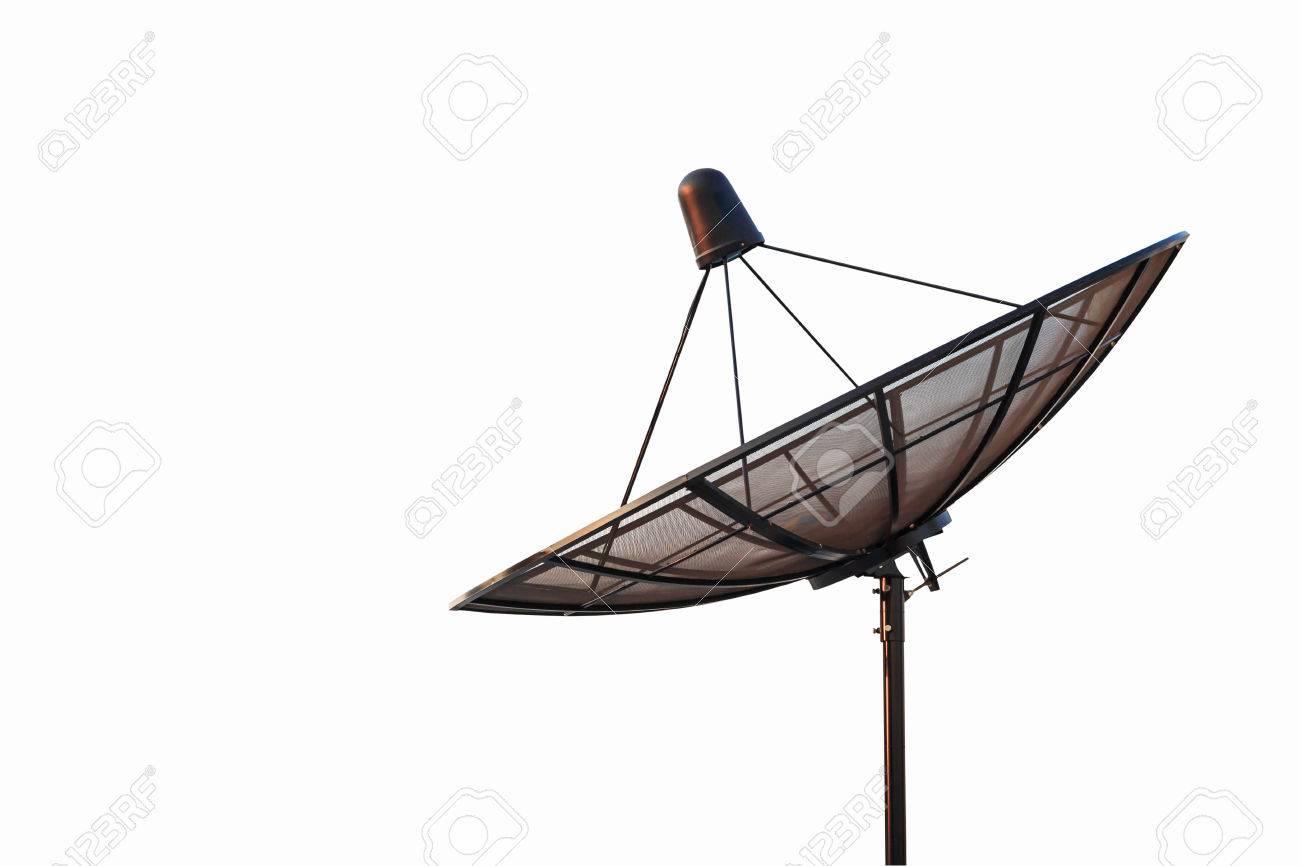 antenne parabolique antenne radar isolé sur fond blanc banque d