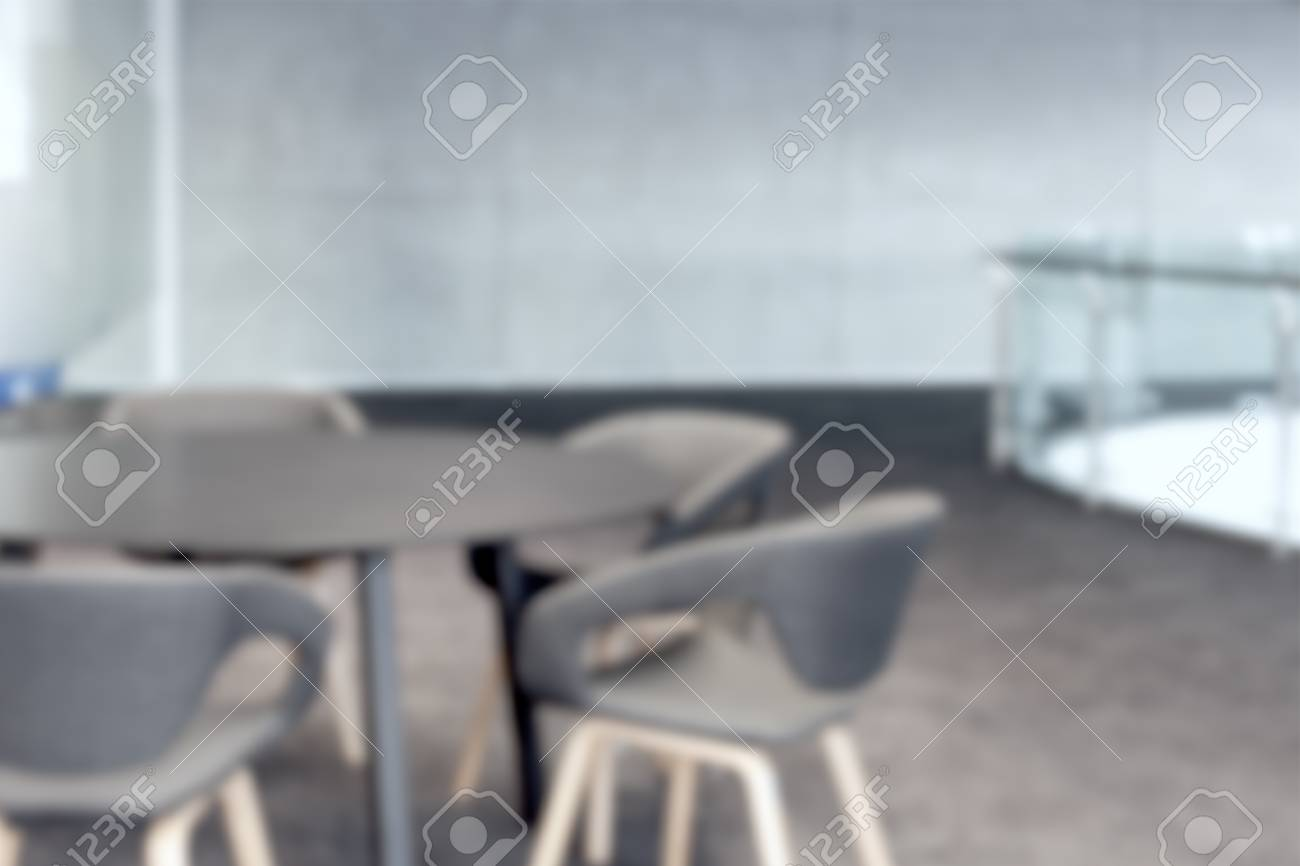 Remarkable Abstract Office With Meeting Round Table And Black Office Chairs Download Free Architecture Designs Embacsunscenecom