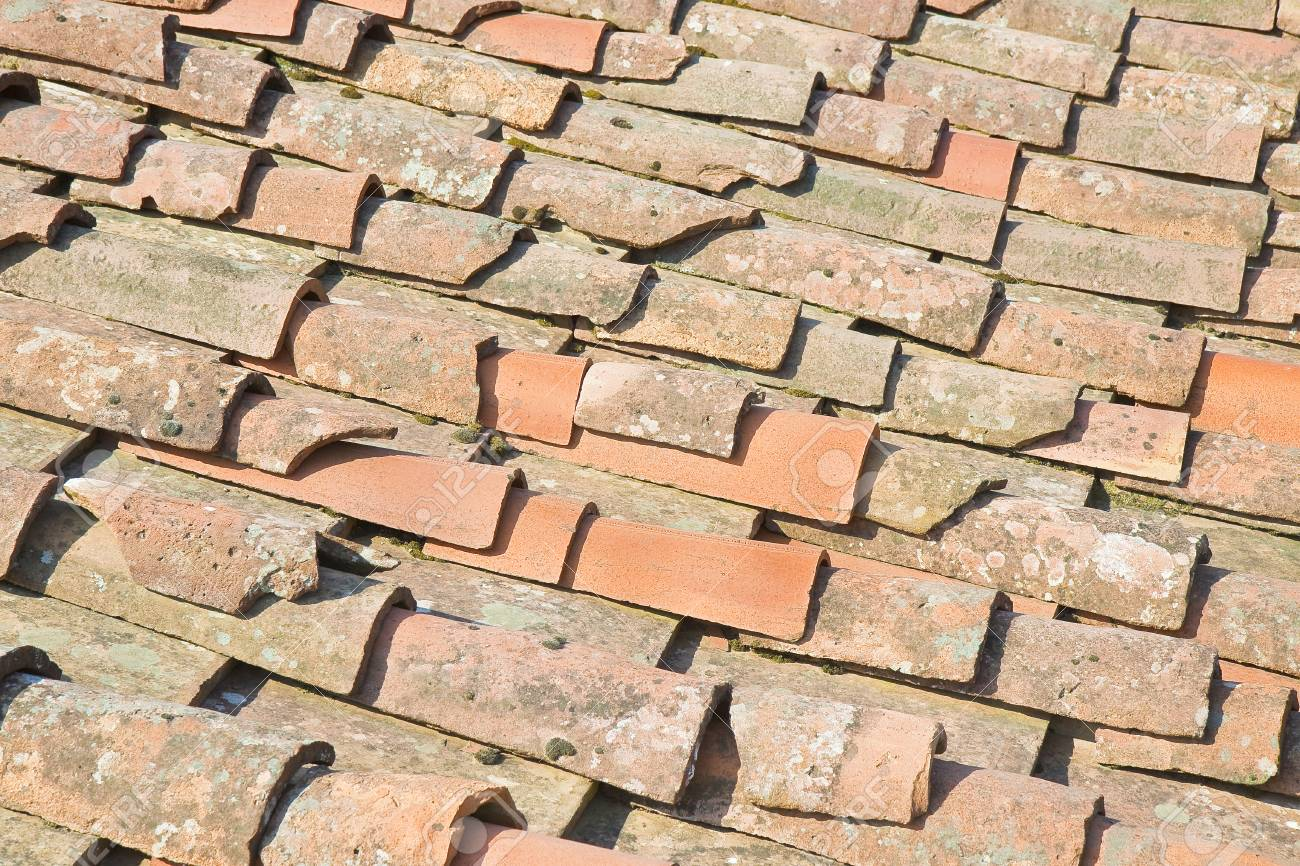 old traditional tuscany terracotta roof covering tuscany italy stock photo 95673041 - Roof Covering
