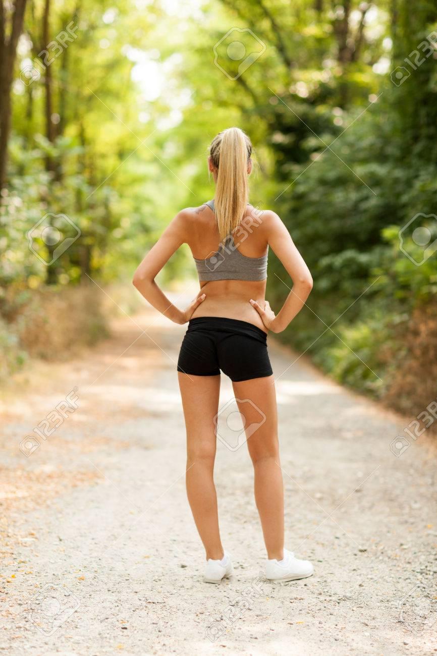 Sexy female running
