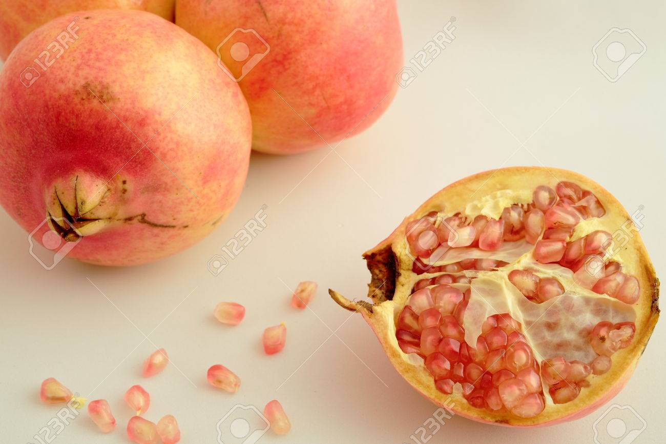 loose grain fruit of granada stock photo picture and royalty free