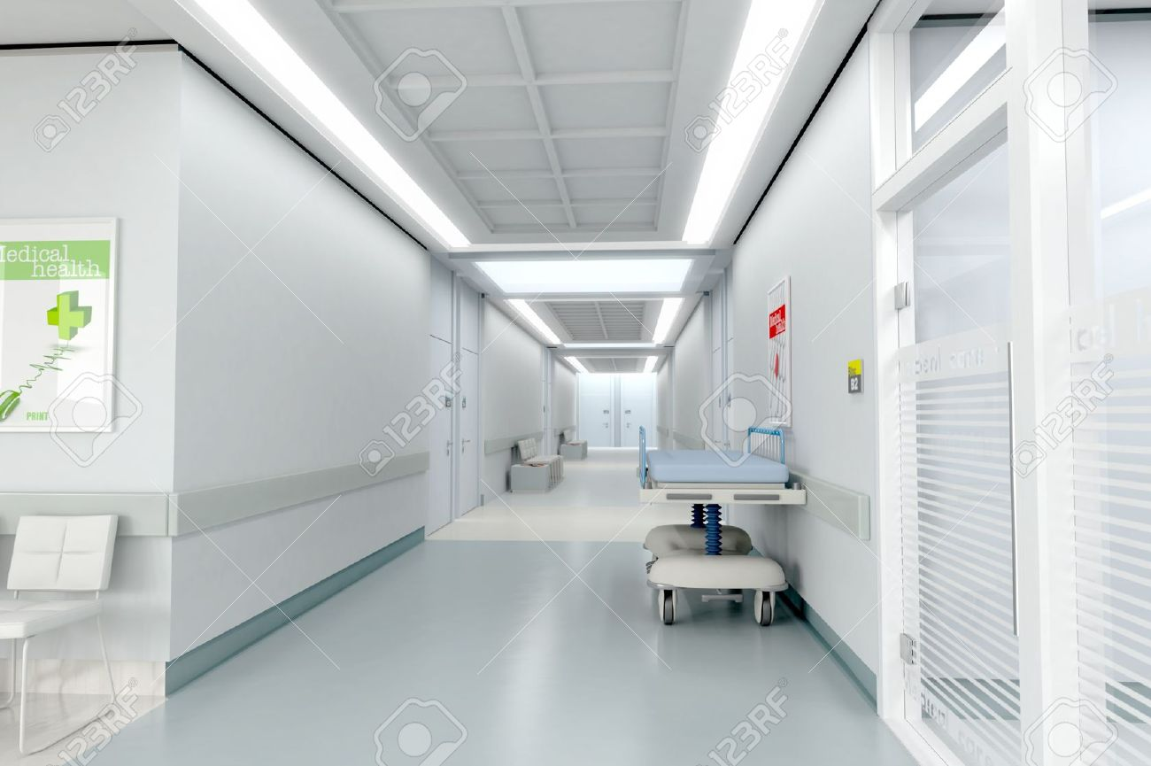 Modern hospital interior - Hospital Interior 3d Rendering Of A Hospital Interior