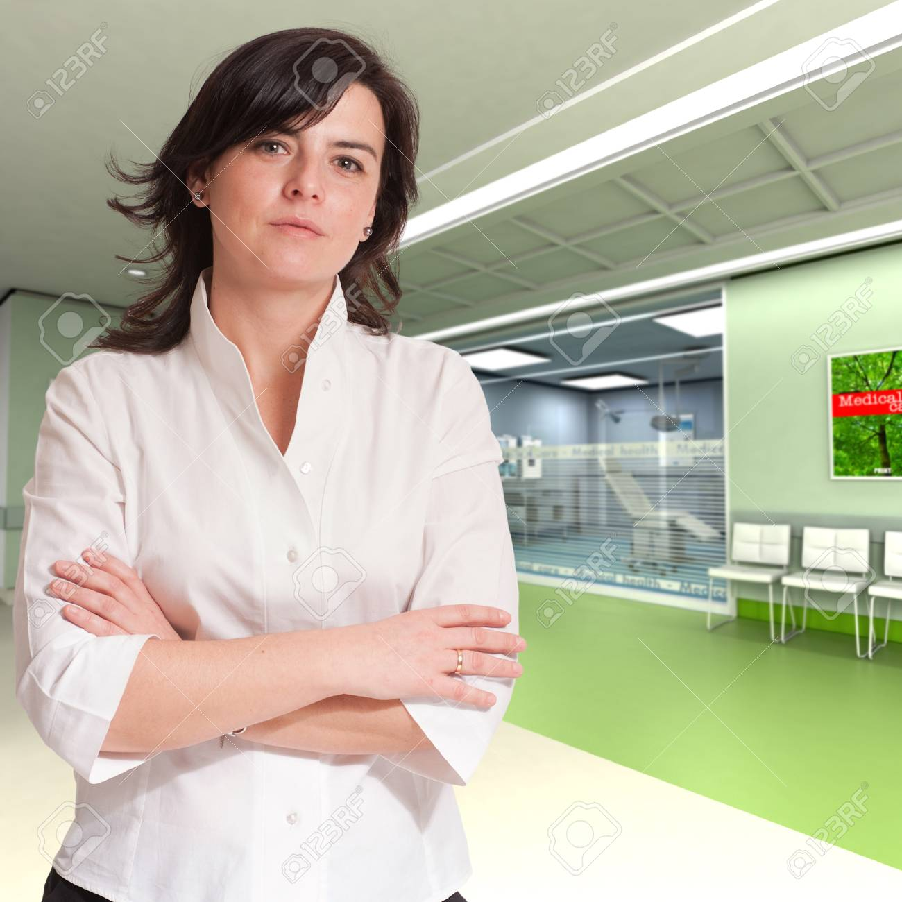 Attractive reassuring young lady at the hospital Stock Photo - 9800440