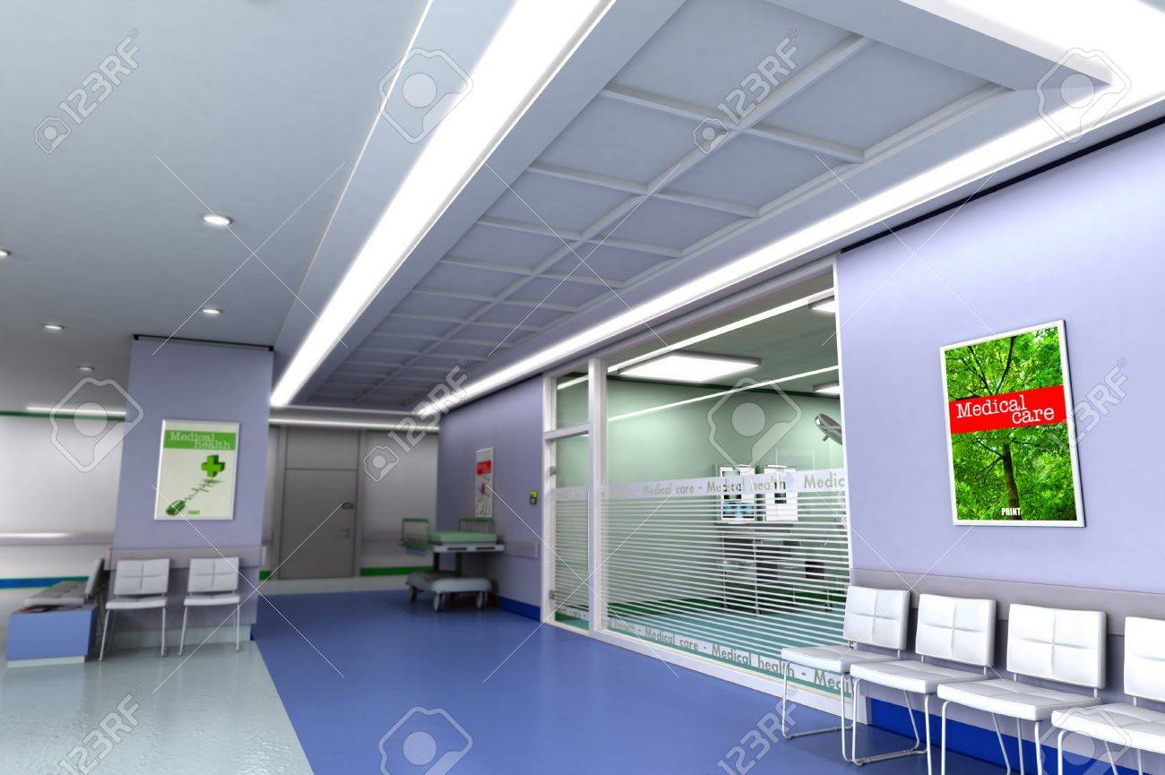 3D rendering of an upscale modern clinic Stock Photo - 11212567
