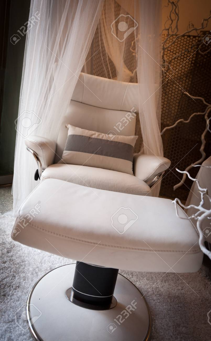 Modern lounge chair with a gauze canopy Stock Photo - 12552730 & Modern Lounge Chair With A Gauze Canopy Stock Photo Picture And ...