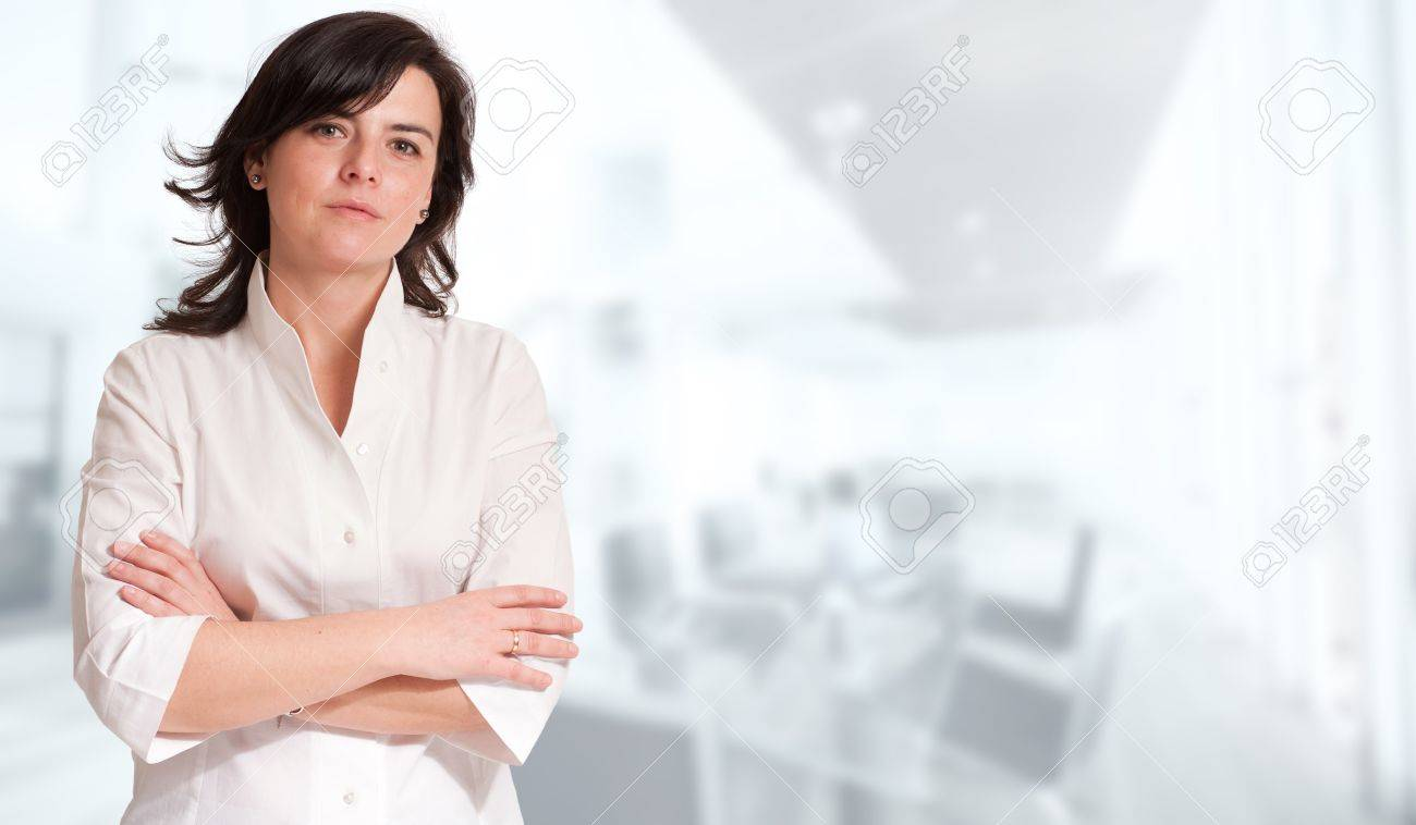 Portrait of a professional woman against a white background Stock Photo - 13230353