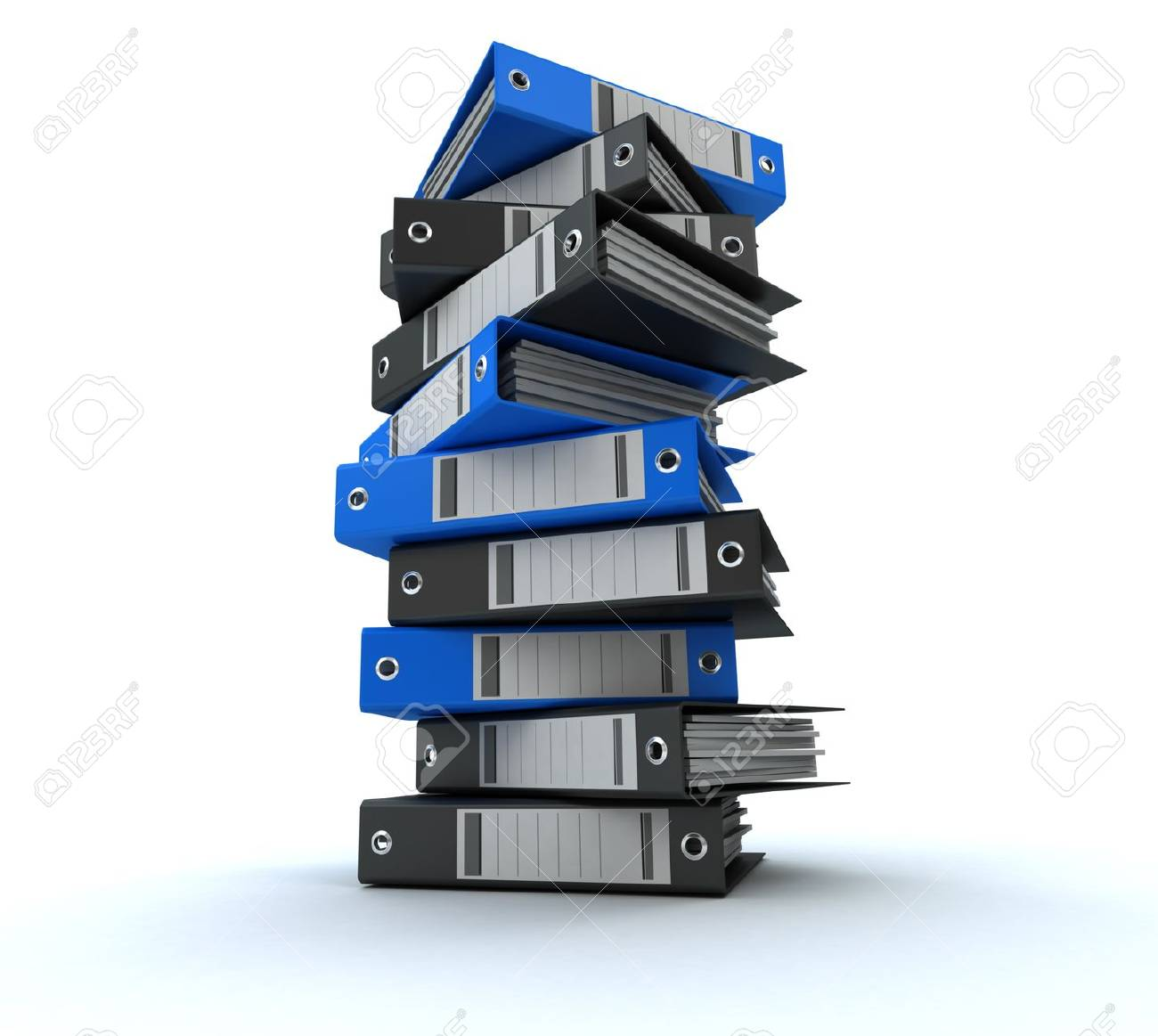 3D rendering of a pile of office ring binders Stock Photo - 13253498