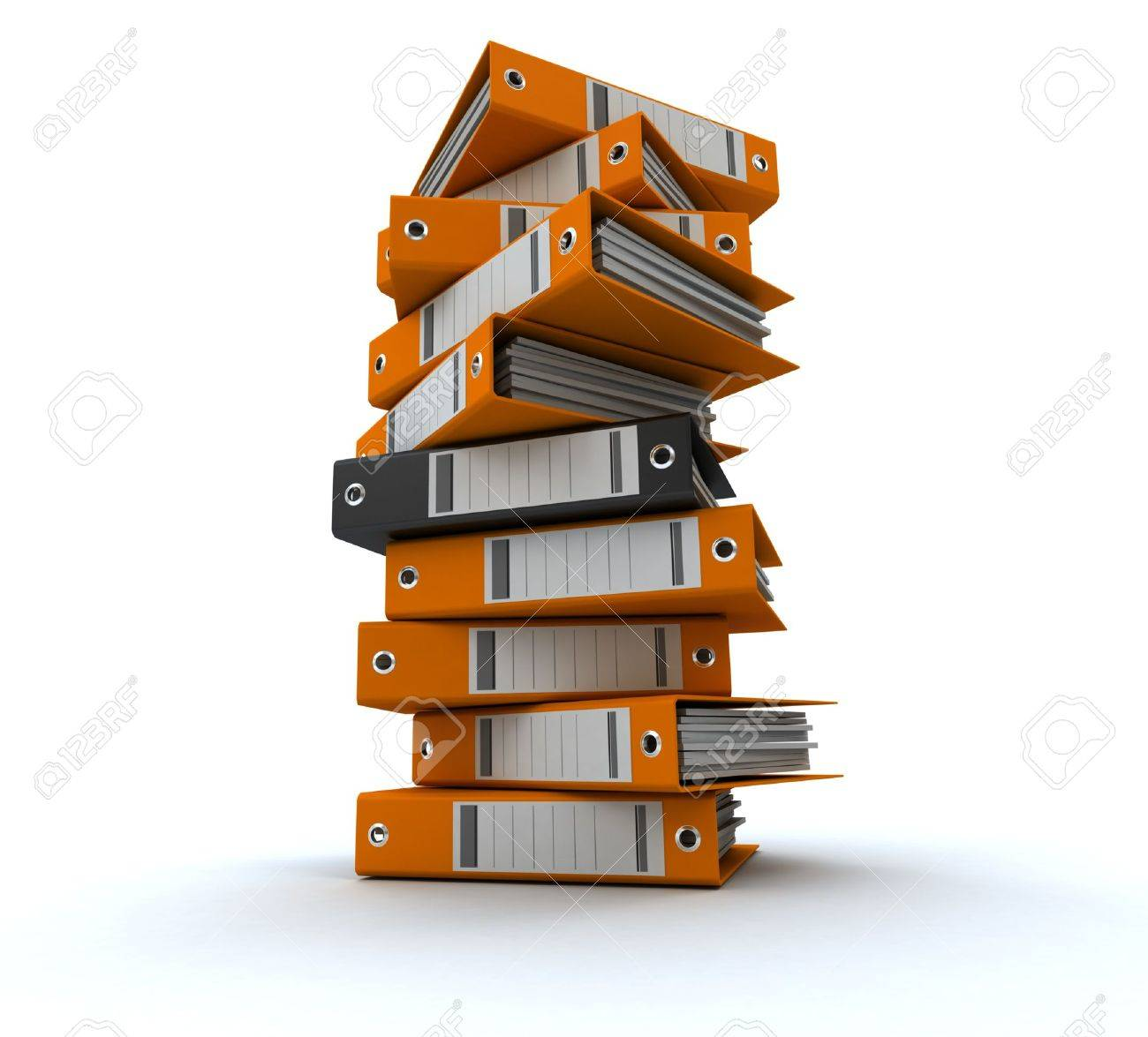 3D rendering of a pile of office ring binders Stock Photo - 14307908