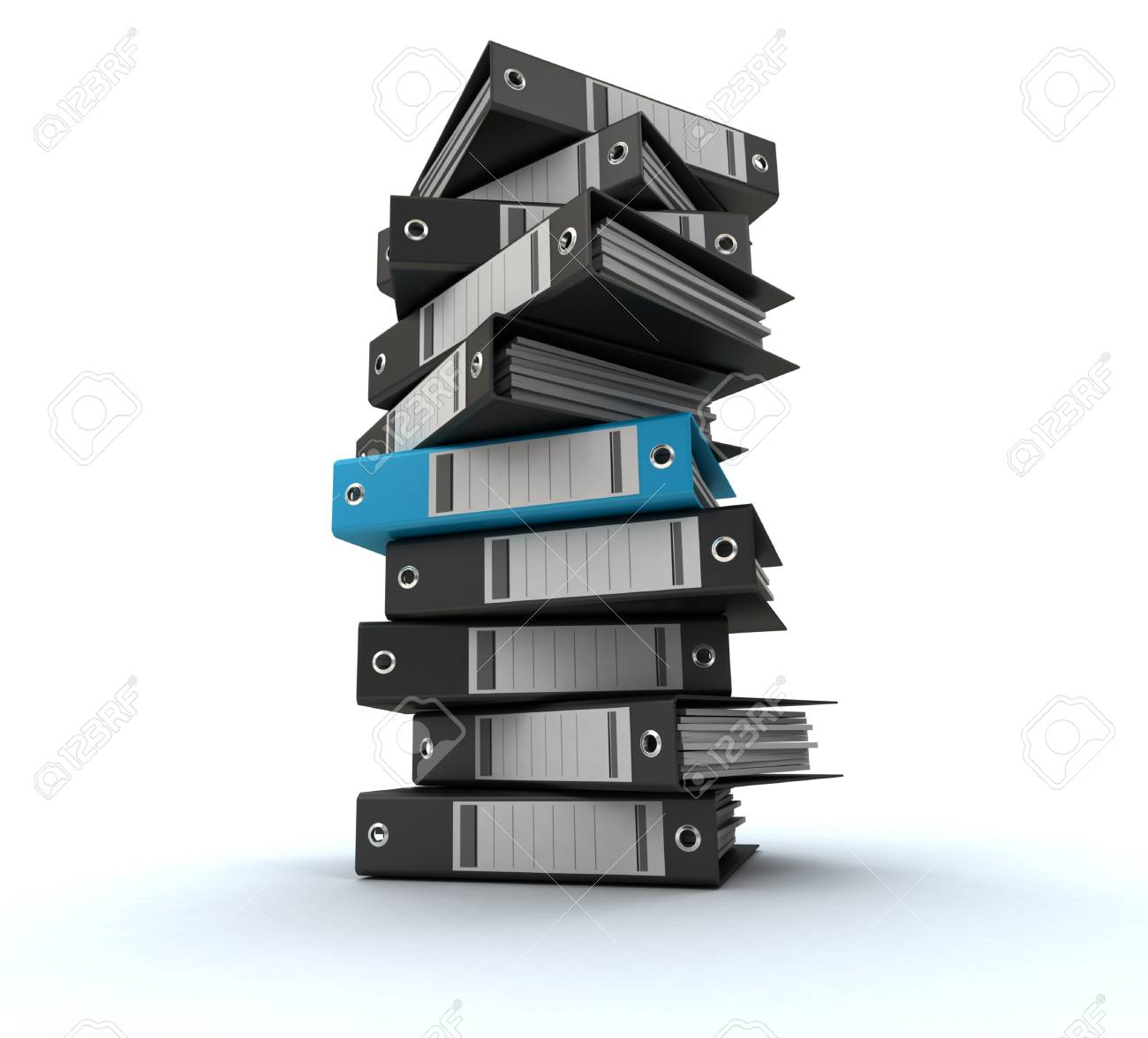 3D rendering of a pile of office ring binders Stock Photo - 14594998