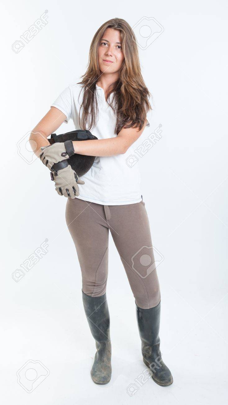 Young Woman Dressed In Horse Riding Clothes Stock Photo Picture And Royalty Free Image Image 15941604