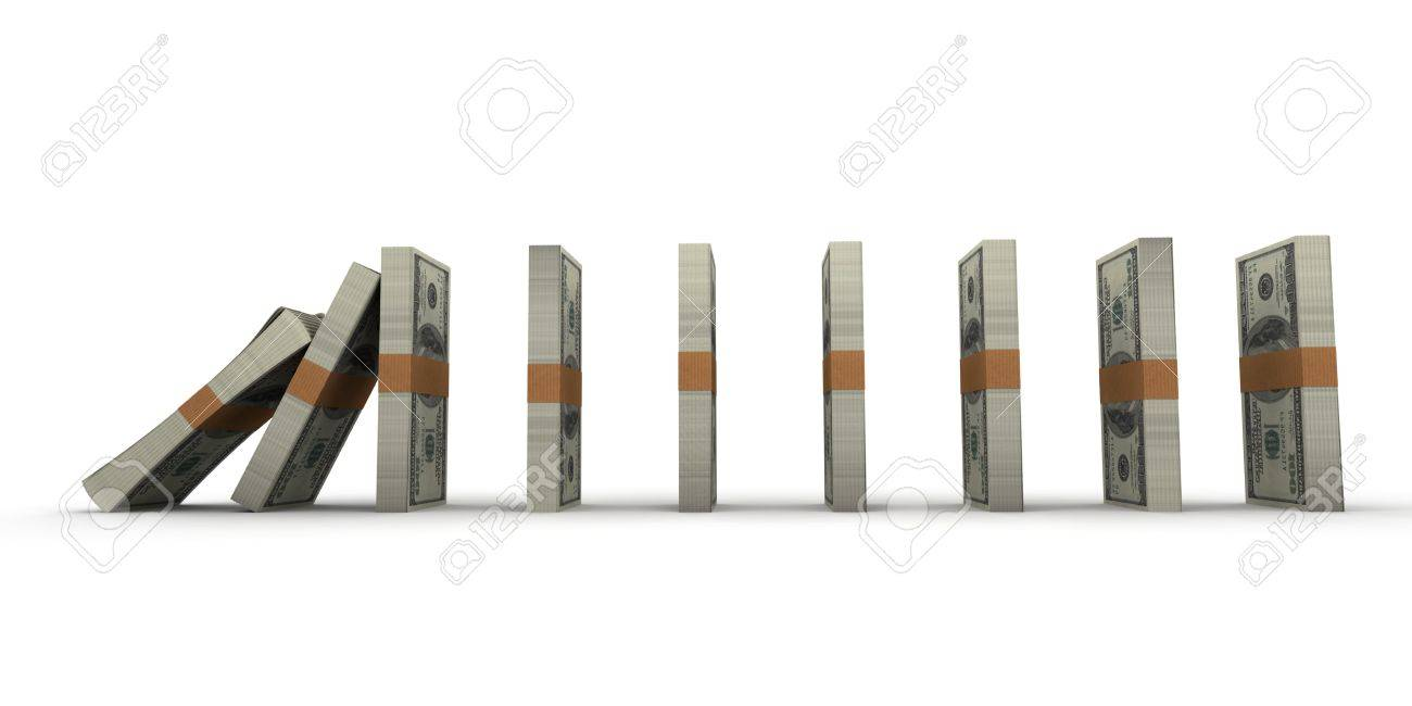 domino effect stacks of hundred dollar bills stock photo domino effect stacks of hundred dollar bills stock photo 16163241