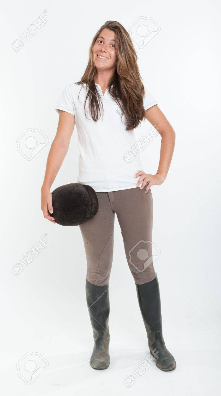 Young Woman Dressed In Horse Riding Clothes Stock Photo Picture And Royalty Free Image Image 16087832