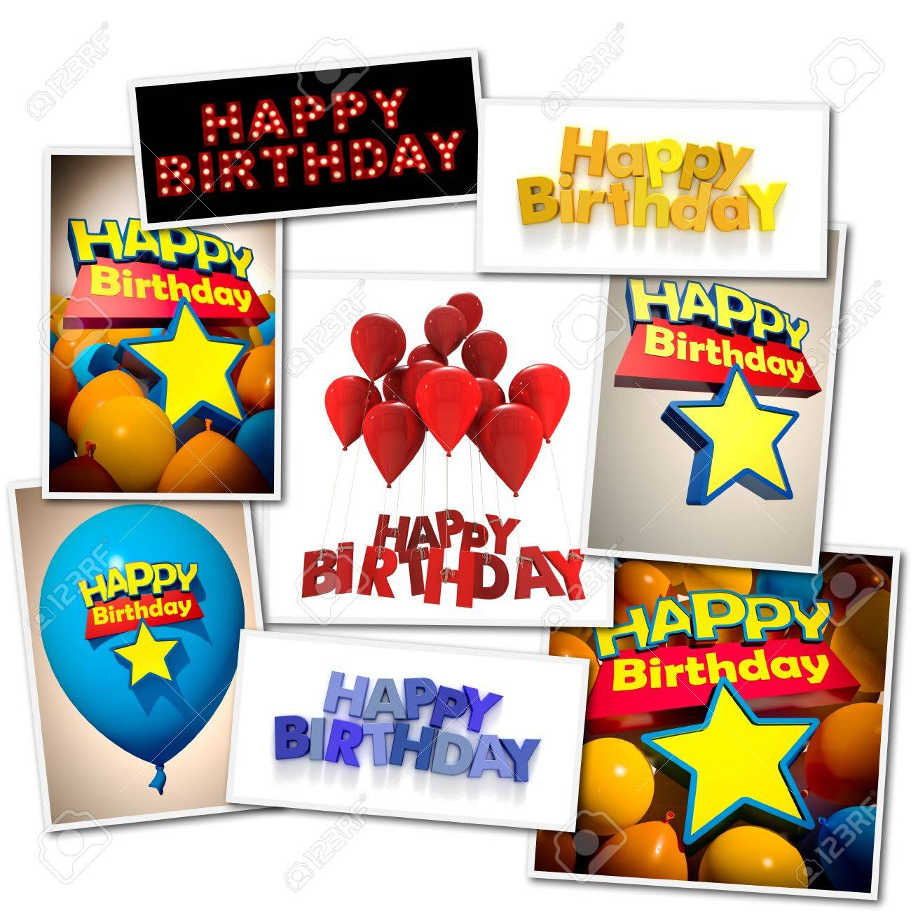 Collage Made Of Different Images With The Message Happy Birthday ...