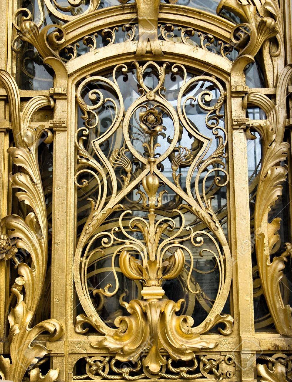 Detail of a golden door at the Petit Palais in Paris Stock Photo - 16268564 & Detail Of A Golden Door At The Petit Palais In Paris Stock Photo ... Pezcame.Com