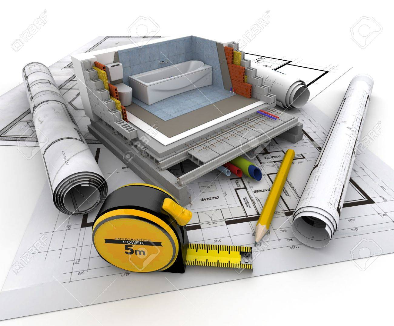 Technical details of home construction, toilet Stock Photo - 17999253