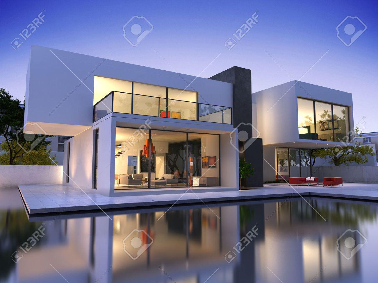 Maison Moderne Banque D\'Images, Vecteurs Et Illustrations Libres ...