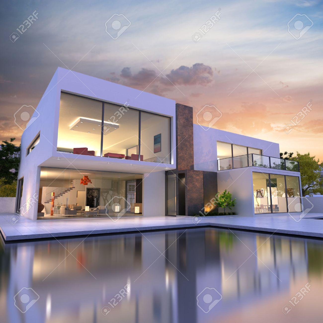 spesso Interni Di Ville Di Lusso. Top Interni Ville Moderne Interni Case  JY03