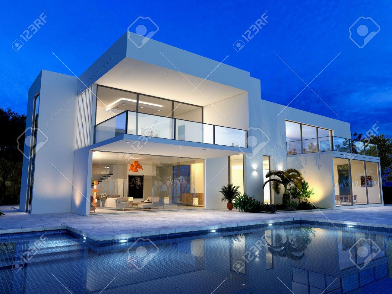 Emejing Maison Moderne De Luxe Avec Piscine Images - Amazing House ...