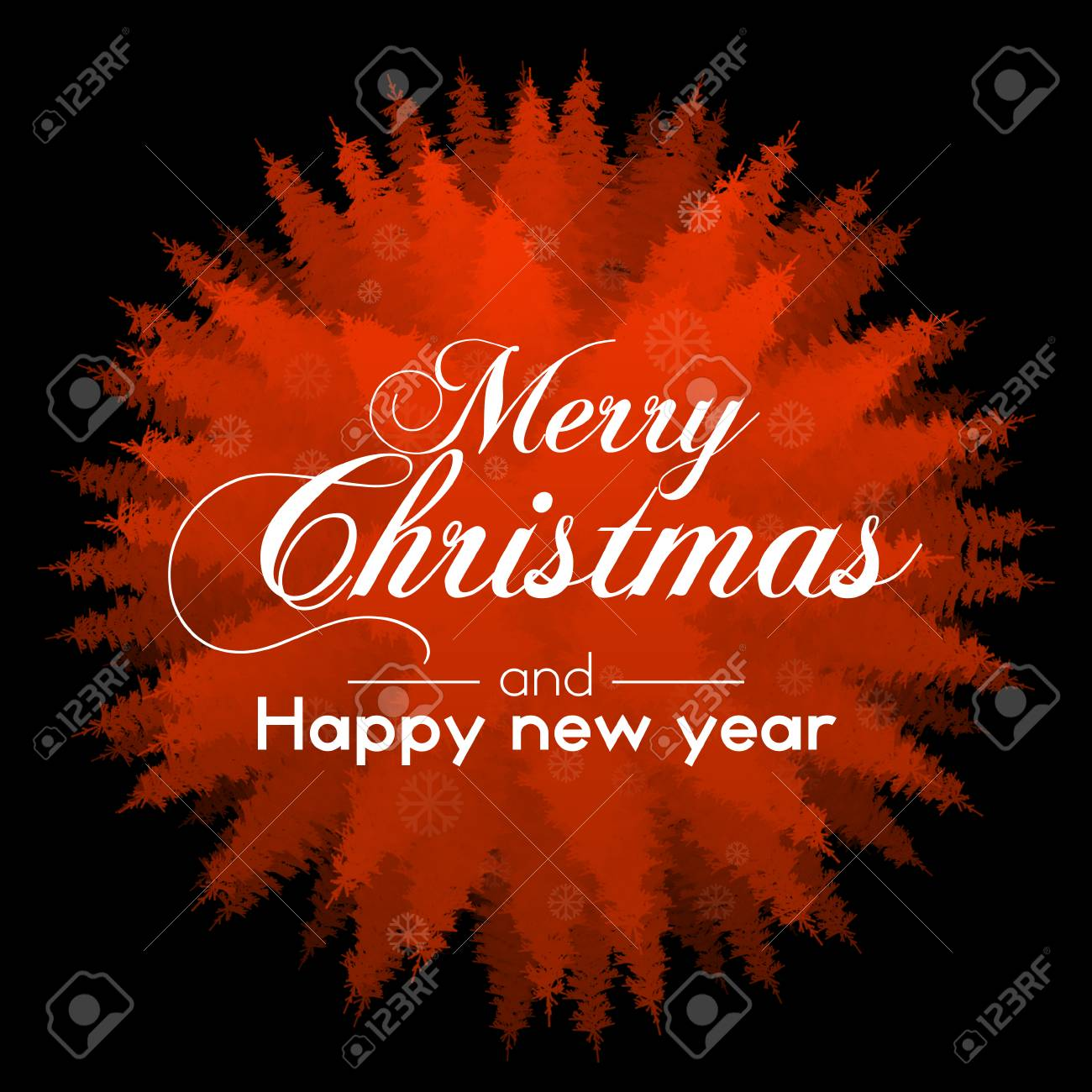 season greetings with text merry christmas and happy new year stock photo 111757103