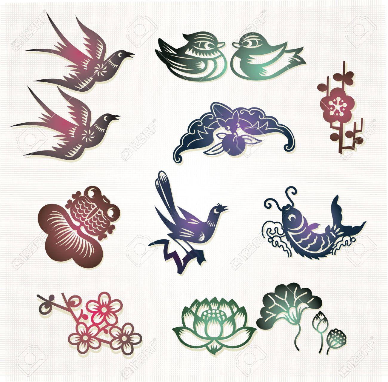 Traditional Chinese Lucky Symbols Lovebirds Mandarin Ducksloyal