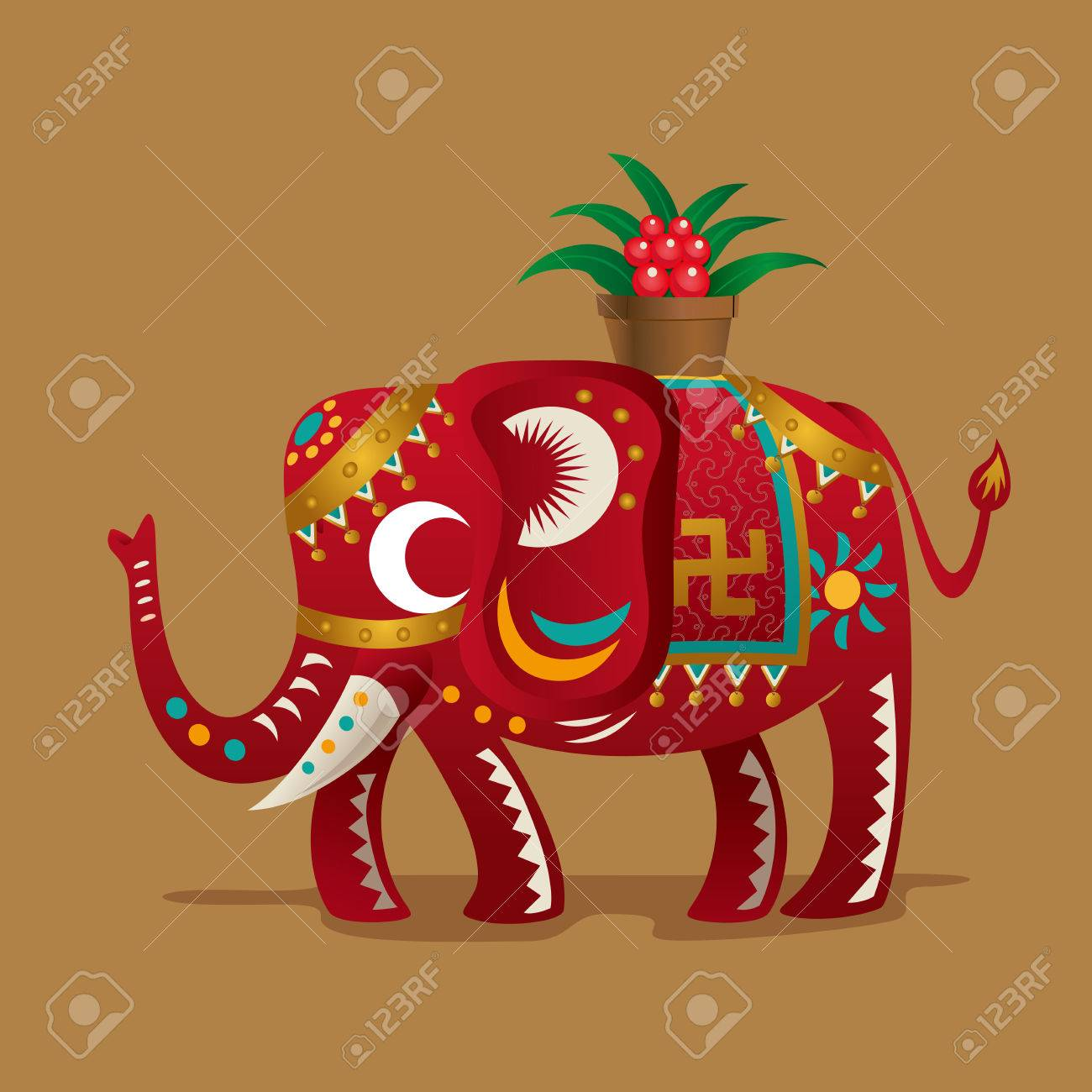 Chinese new year festivals lucky symbola elephant with a plant chinese new year festivals lucky symbola elephant with a plant of evergreen as biocorpaavc