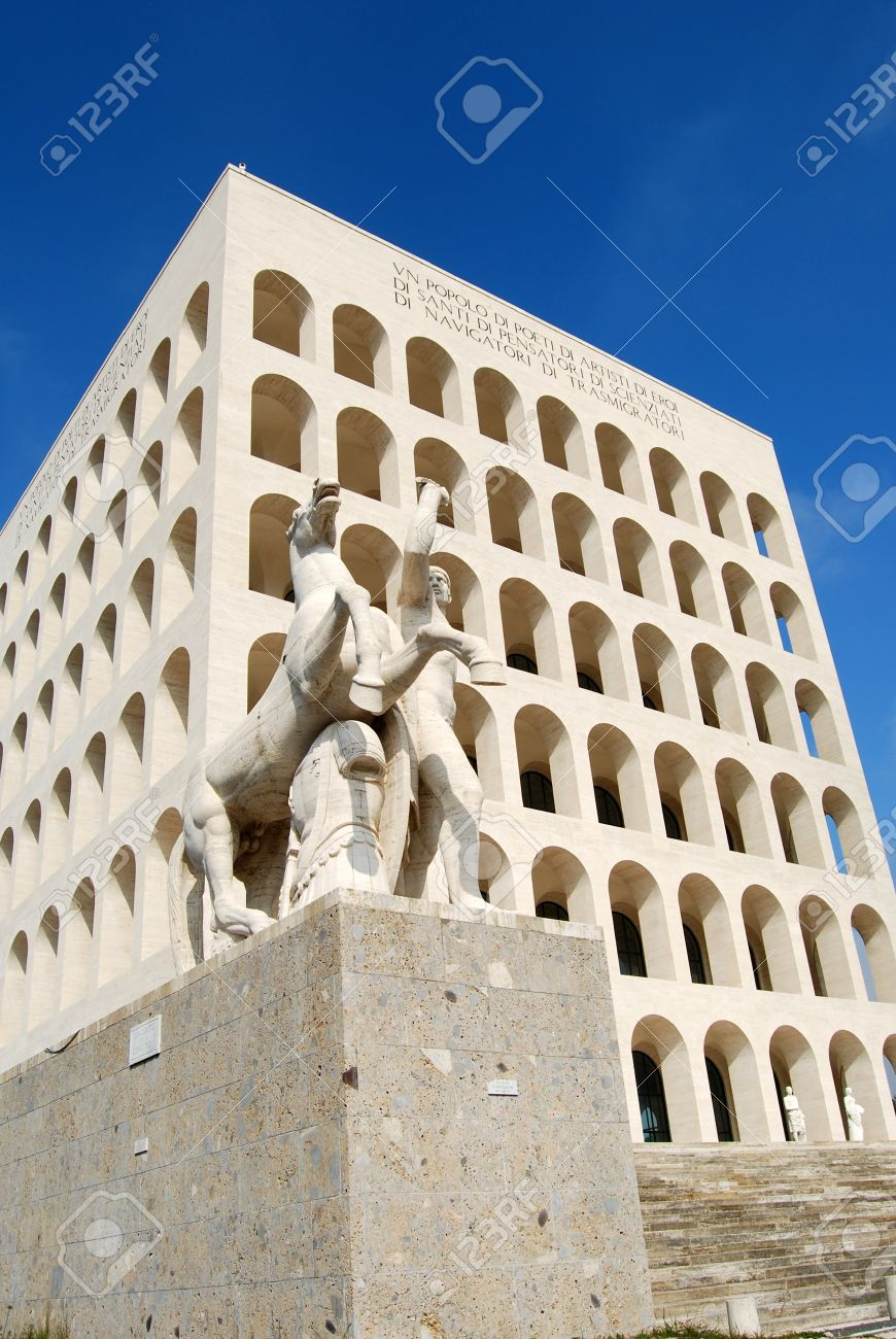 Modern Architecture Rome rome eur (palace of civilization 002) -rome - italy - among