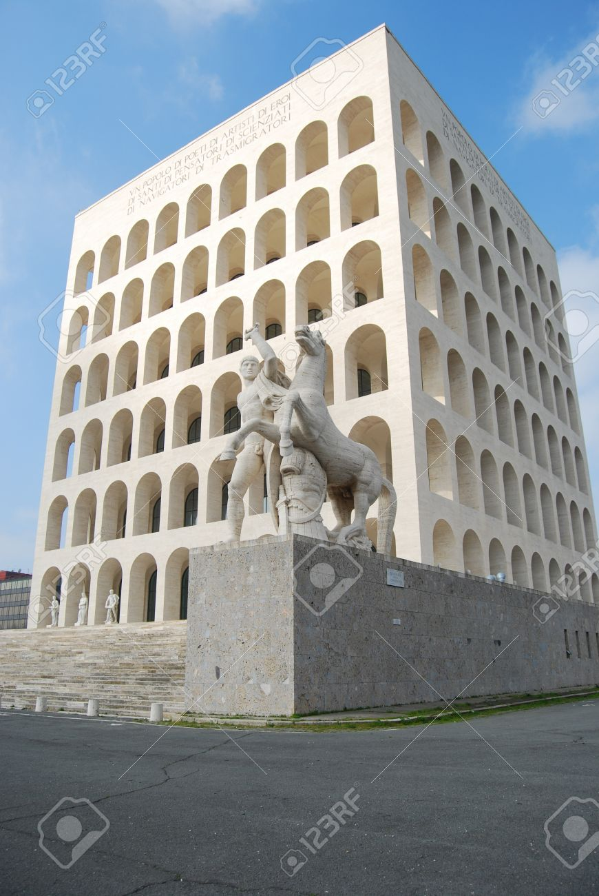 Modern Architecture Rome rome eur (palace of civilization 008) - rome - italy - among