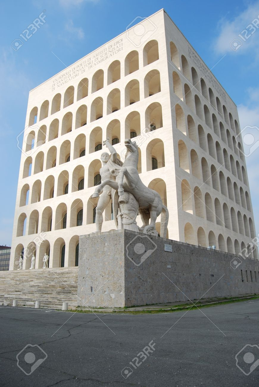 Delighful Modern Architecture In Rome Eur Palace Of Civilization 010 Italy Among Fascist Inside Decorating Ideas