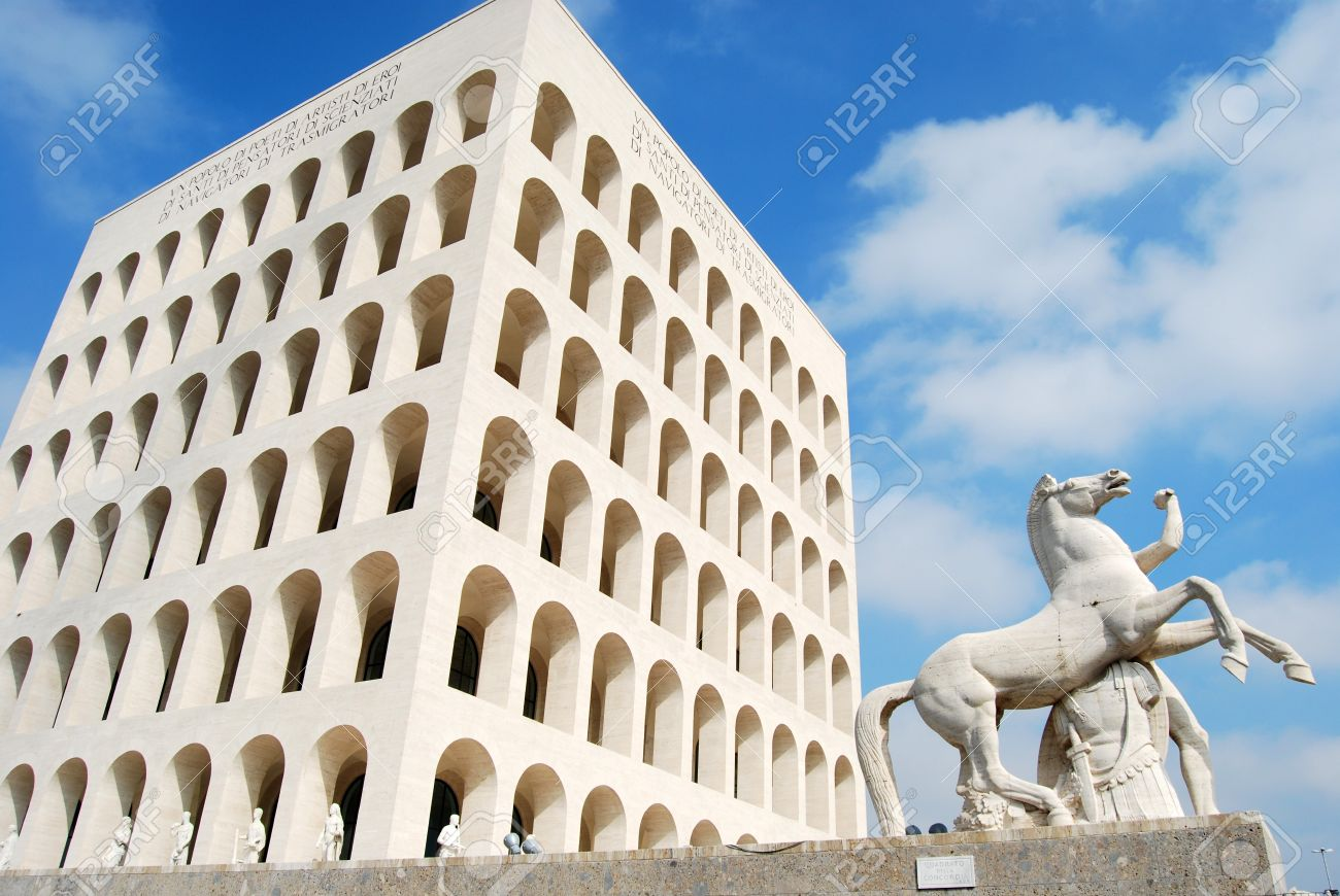 Rome Eur Palace Of Civilization 011 Rome Italy Among Fascist