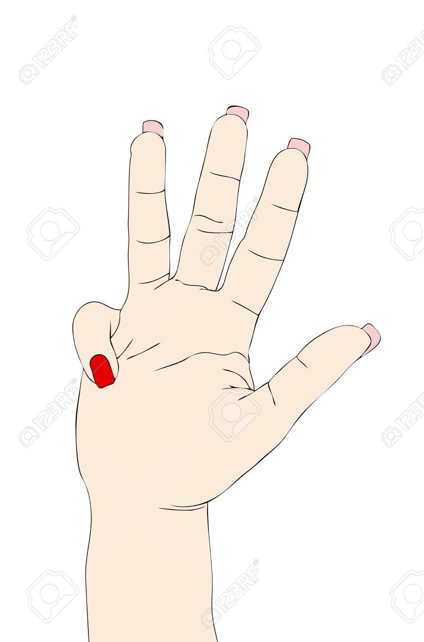 Nonverbal Language Signs And Symbols With The Hands The Four