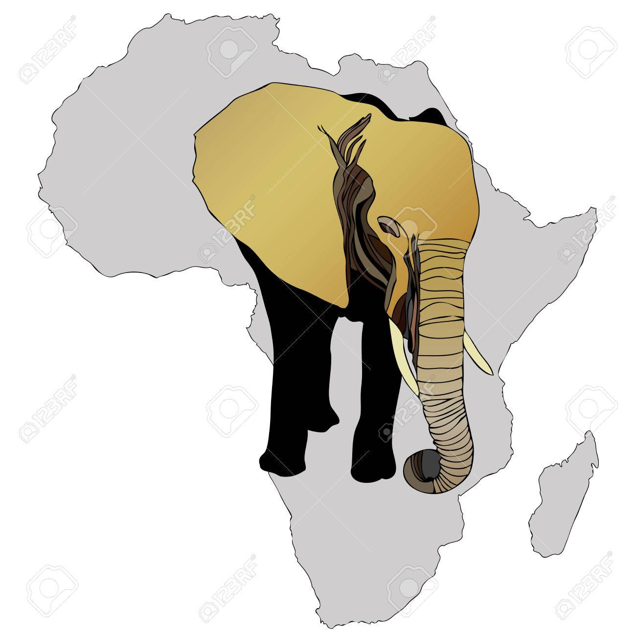 Symbolic illustration depicting an african elephant royalty free symbolic illustration depicting an african elephant stock vector 37089649 biocorpaavc Image collections