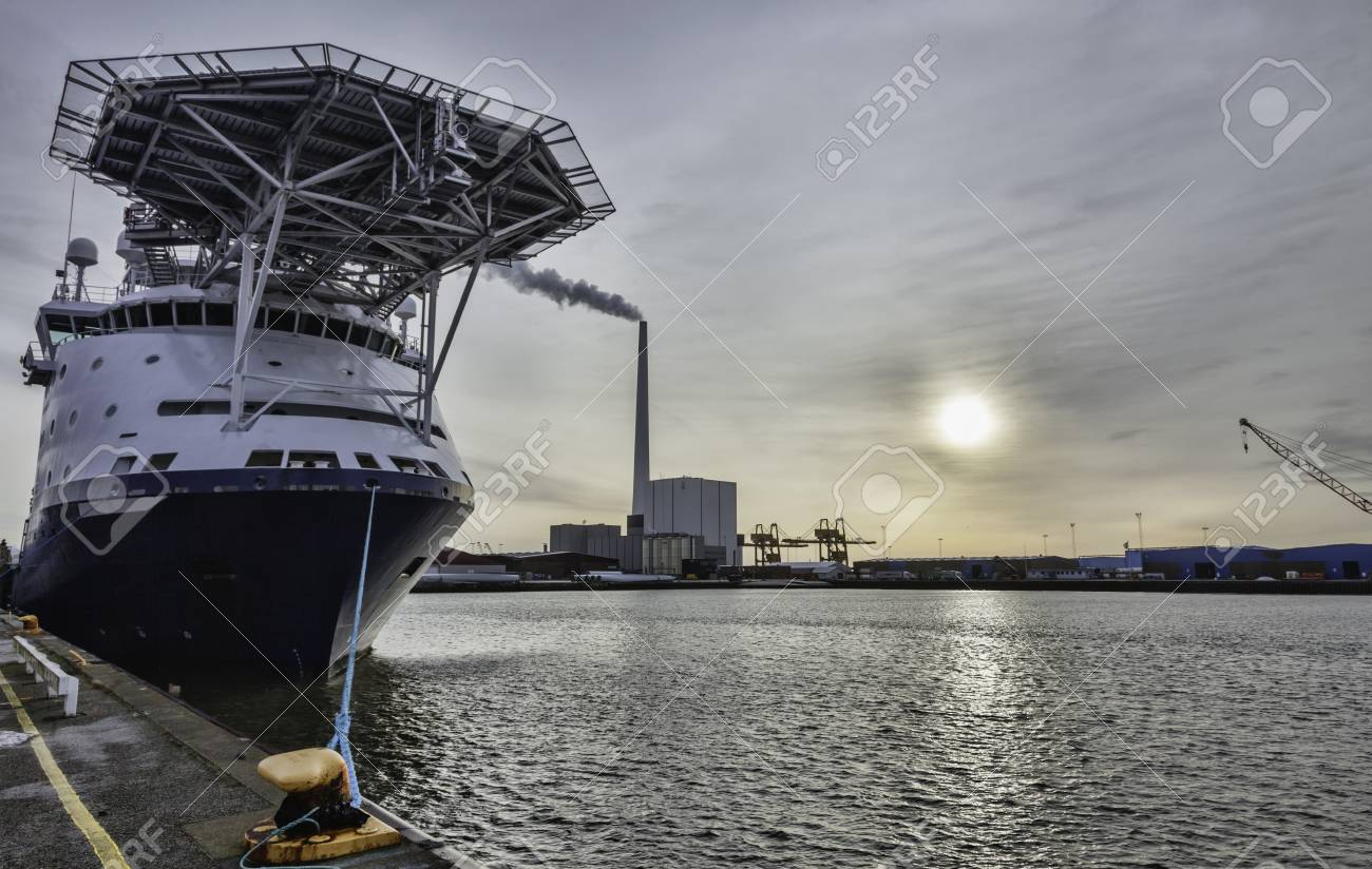 Offshore harbor in Esbjerg, Denmark Stock Photo - 17060677