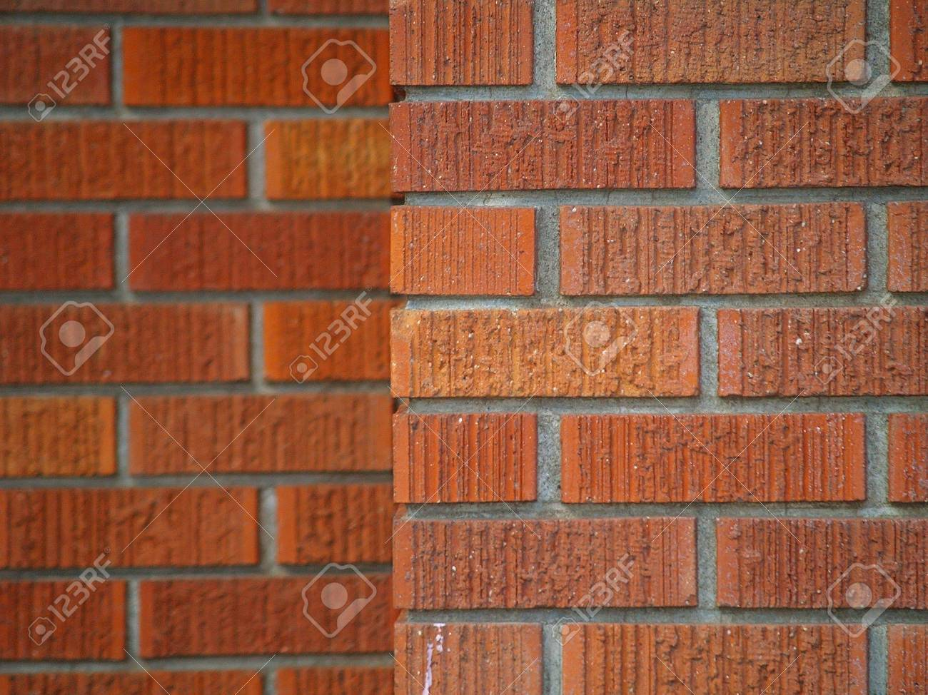 Brick wall backgrounds, all in good repair, in various shades