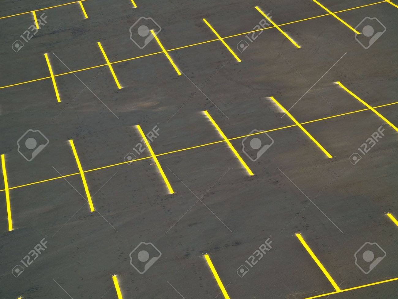 An empty parking lot with a grunge look Stock Photo - 5615635