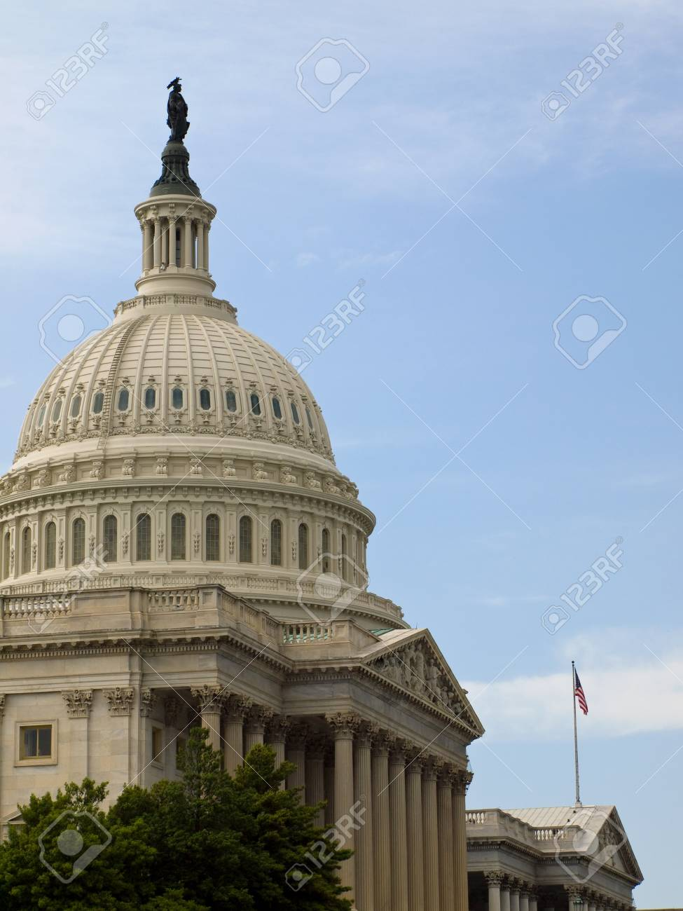 United States Capitol Building in Washington DC with American Flag Stock Photo - 10005814