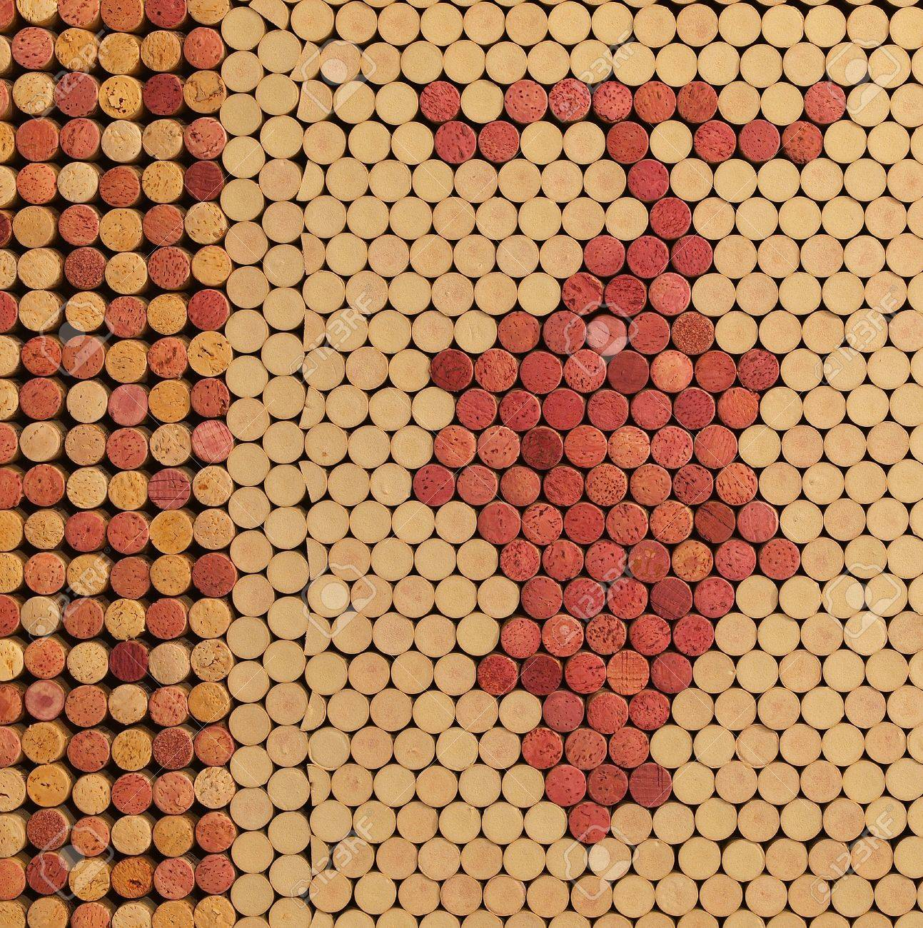 Used Wine Corks Grape Cluster Pattern for Background Stock Photo - 14450245