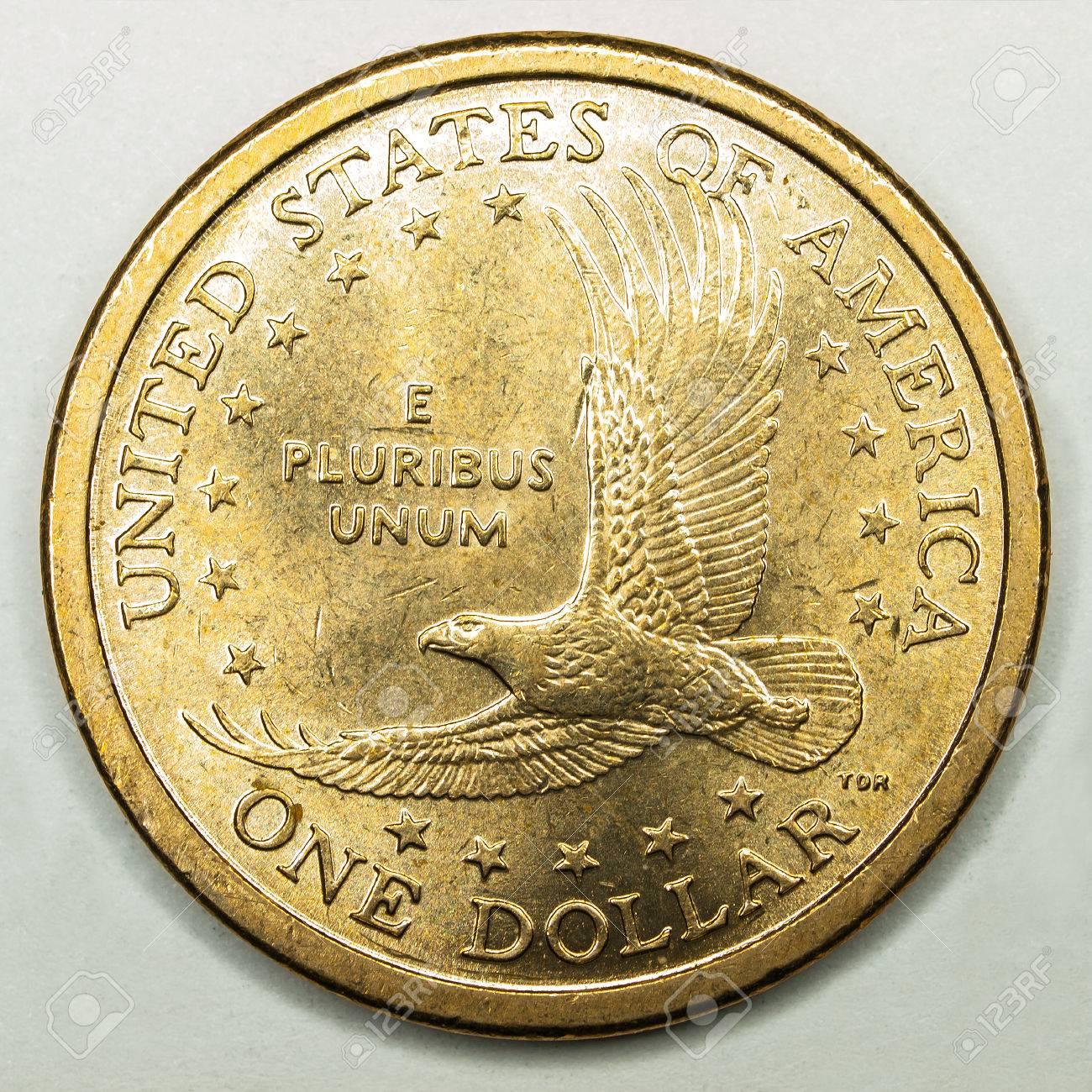 Us Gold Dollar Münze Mit Flying Eagle Lizenzfreie Fotos Bilder Und