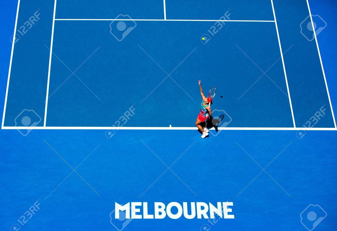 Die Kielerin Angelique Kerber steht erstmals bei den Australian Open in Melbourne im Viertelfinale / Australien / Hartplatz / Grand Slam / Melbourne / Victoria / Melbourne Park / SPO / Tennis / Happy Slam / 2016 - 58003148