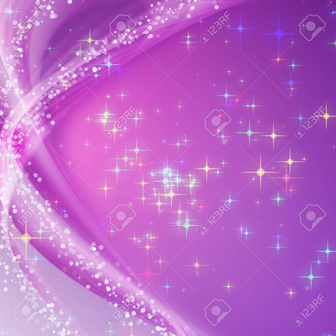 Fantastic Christmas wave design with snowflakes and glowing stars Stock Photo - 16585279