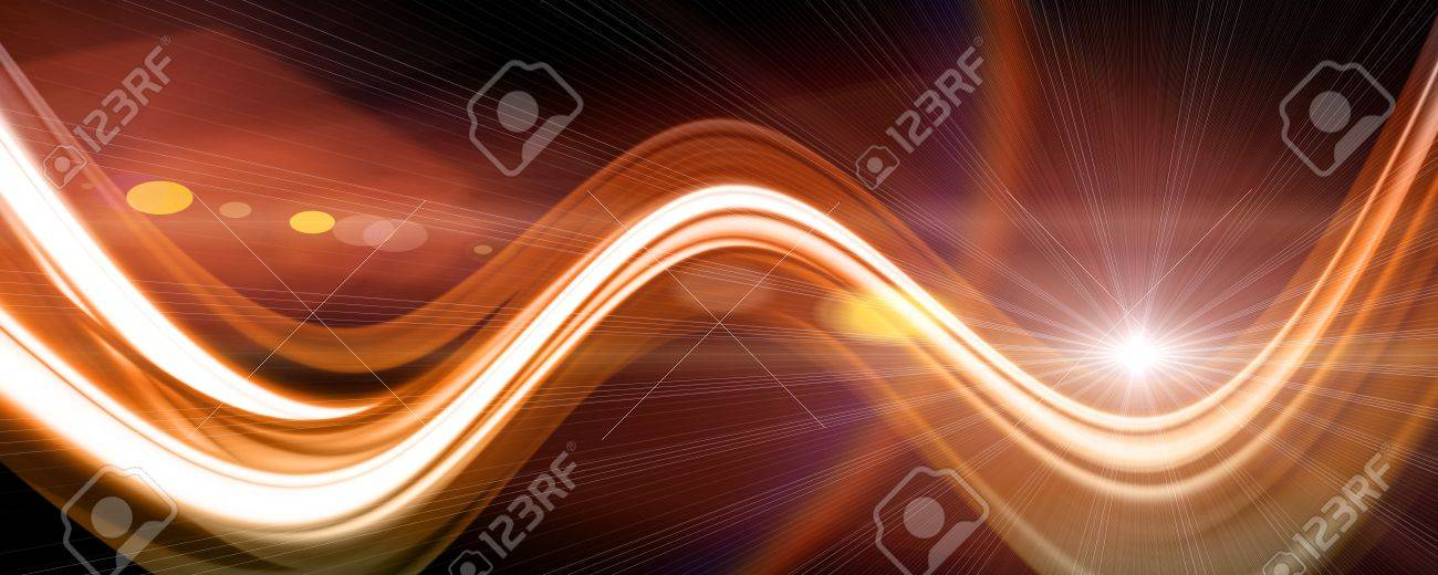 Futuristic technology wave background design with lights Stock Photo - 17061529
