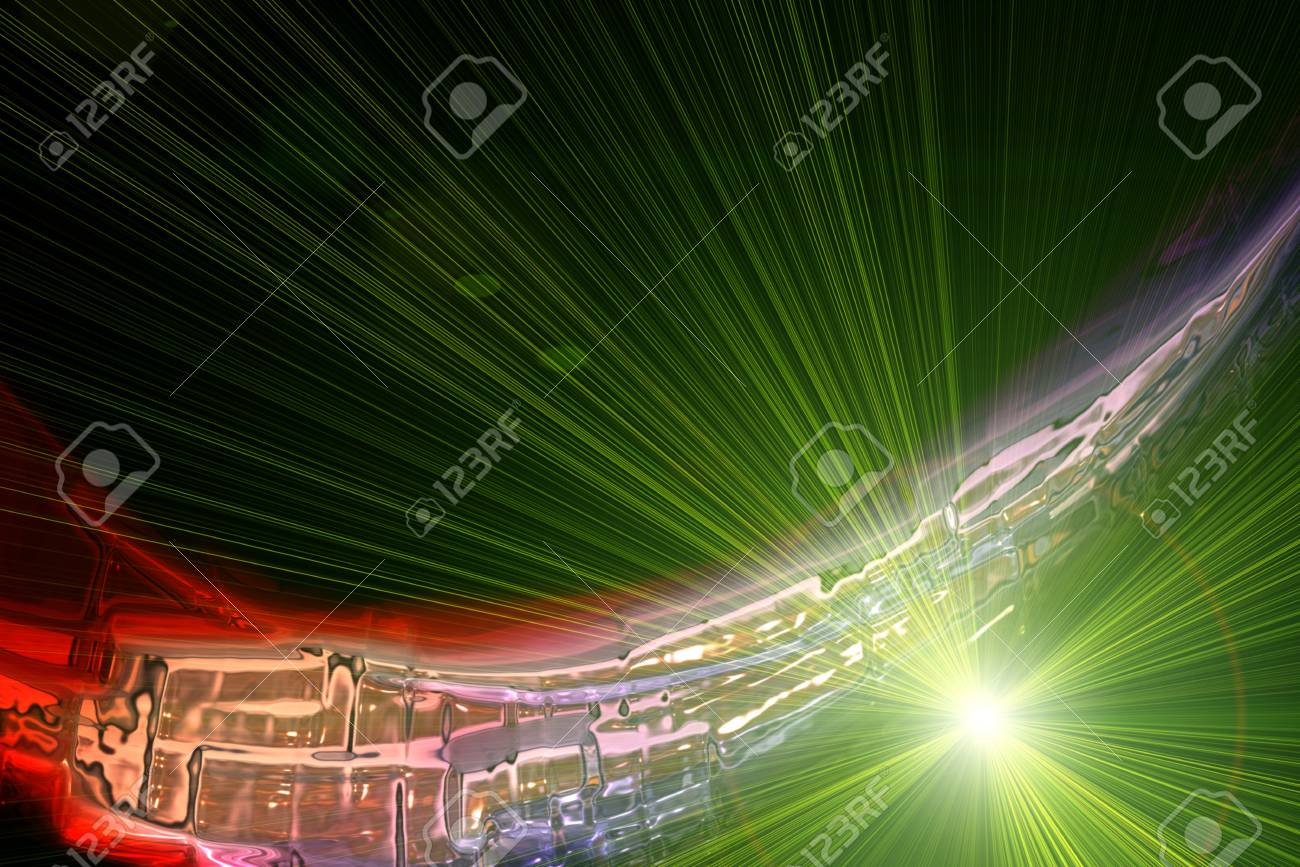 Futuristic technology wave background design with lights Stock Photo - 19896983