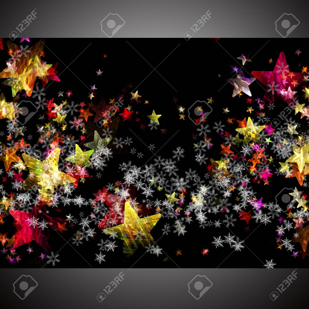 Wonderful Christmas background design illustration with stars and snowflakes Stock Illustration - 23382923