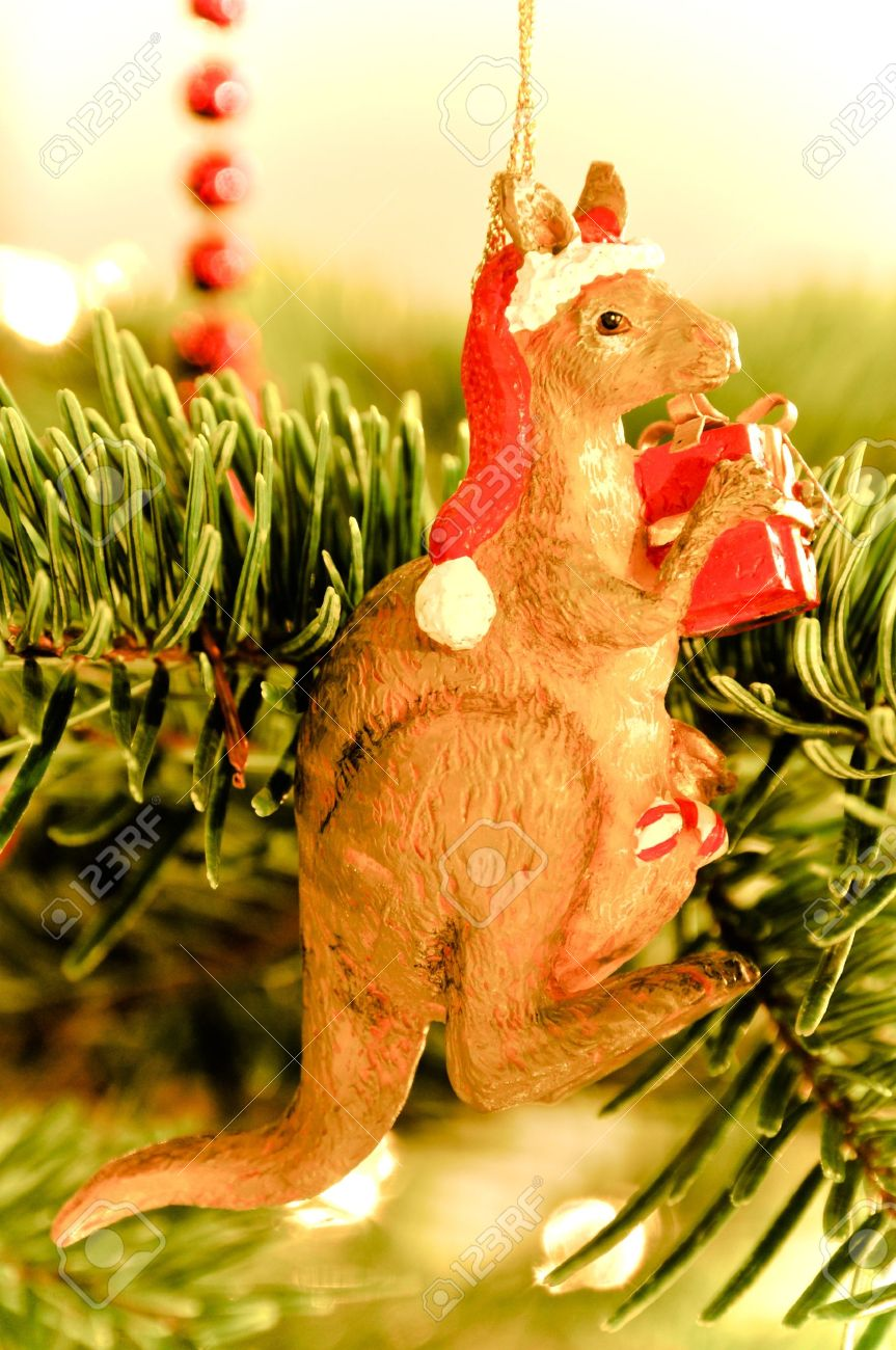 Christmas Tree Decoration: Australian Kangaroo Stock Photo, Picture ...