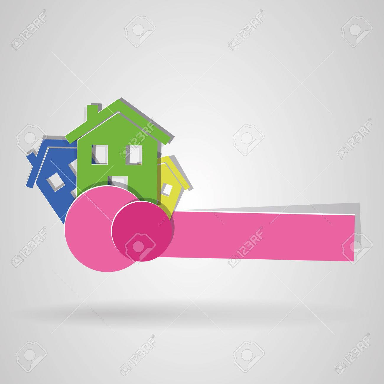 Logo Of House Colors. Vector Image Royalty Free Cliparts, Vectors ...